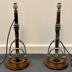 Pair of Side Saddle Stirrup Lamps