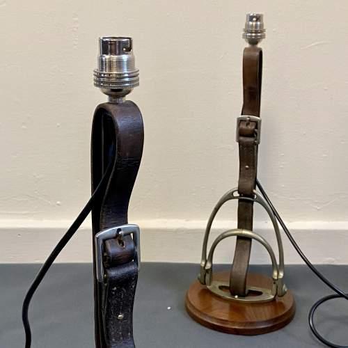 Pair of Side Saddle Stirrup Lamps image-5