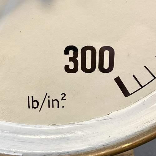 Large Pressure Gauge Clock Lamp image-4