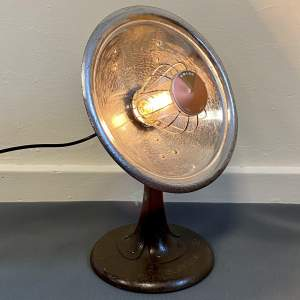 Alsthom Heat Lamp converted to a Desk Lamp