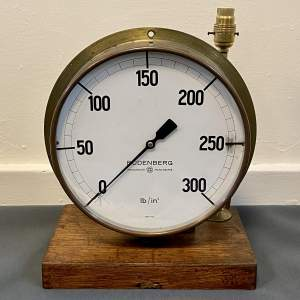 Large Budenberg Pressure Gauge Lamp