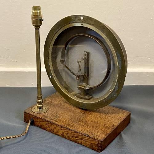 Large Budenberg Pressure Gauge Lamp image-6