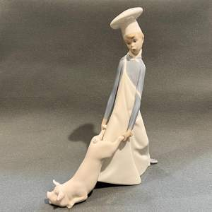 20th Century Lladro Figurine Cook in Trouble