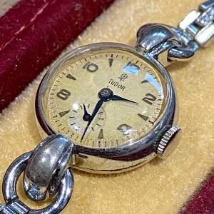 20th Century Steel Cased Tudor Rolex Ladies Watch