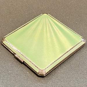 1930s Silver and Enamel Cigarette Case