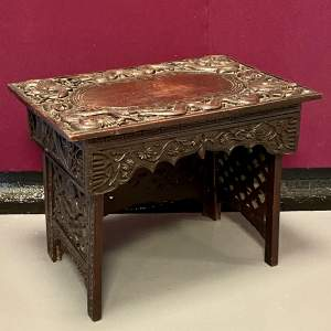 Late Victorian Chinese Folding Campaign Stool