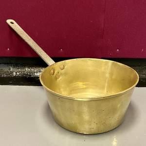 Victorian Heavy Brass Saucepan