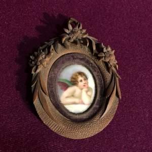 19th Century Miniature on Porcelain