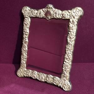 Silver Framed Easel Mirror