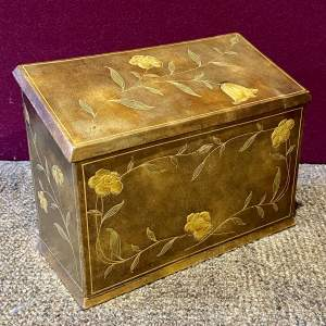 Parkins and Gotto Tooled Leather Stationary Box