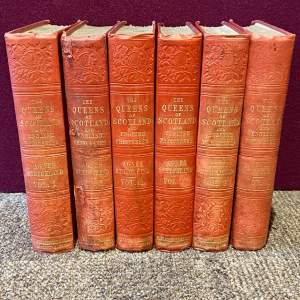19th Century Six Volumes of Queens of Scotland and English Princesses