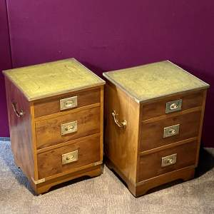 Pair of Bevan and Funnell Campaign Style Chests