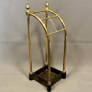 Vintage Brass and Cast Iron Stick Stand
