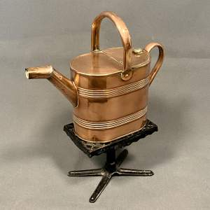 Victorian Copper Hot Water Jug on Trivet