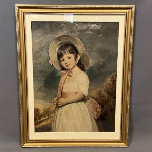 Large Framed Print of a Victorian Girl. image-1