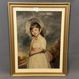 Large Framed Print of a Victorian Girl.