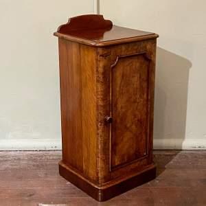 Victorian Burr Walnut Bedside Cupboard