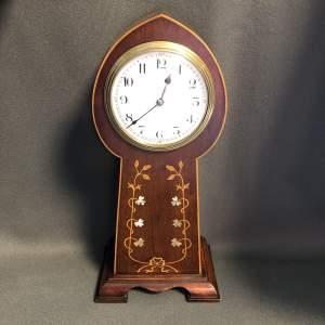 Art Nouveau Inlaid Mantel Clock
