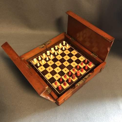 Edwardian Travel Chess Set image-2