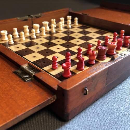 Edwardian Travel Chess Set image-1