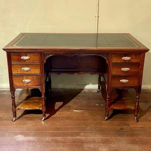 Victorian Rosewood Desk by Johnson and Appleyard