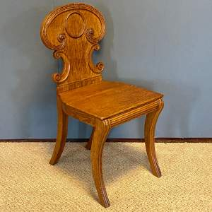 Antique Oak Hall Chair