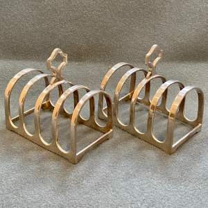 Harrods Pair of Early 20th Century Silver Plated Toast Racks