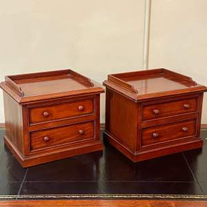 Pair of Victorian Miniature Mahogany Chests