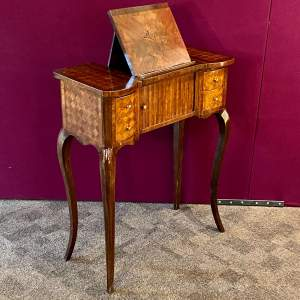 19th Century French Marquetry and Parquetry Side Table Lecturn