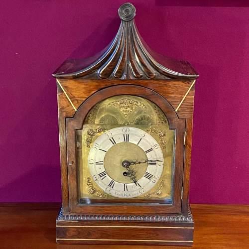Early 19th Century James Clark Mahogany Bracket Clock image-1