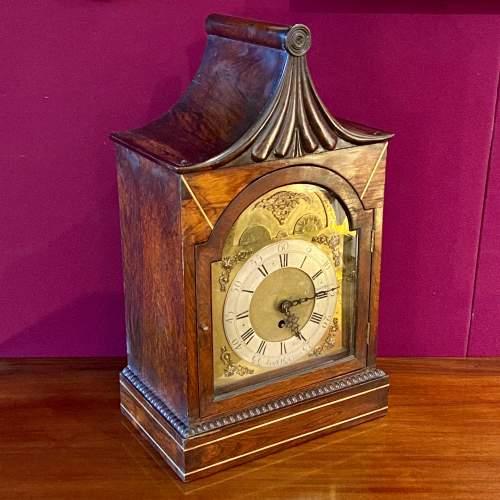 Early 19th Century James Clark Mahogany Bracket Clock image-2