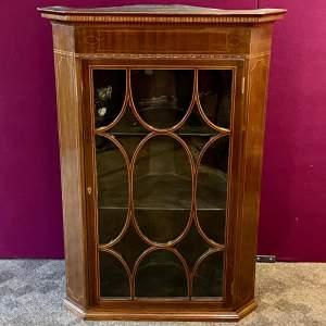 19th Century Mahogany Inlaid Corner Cabinet