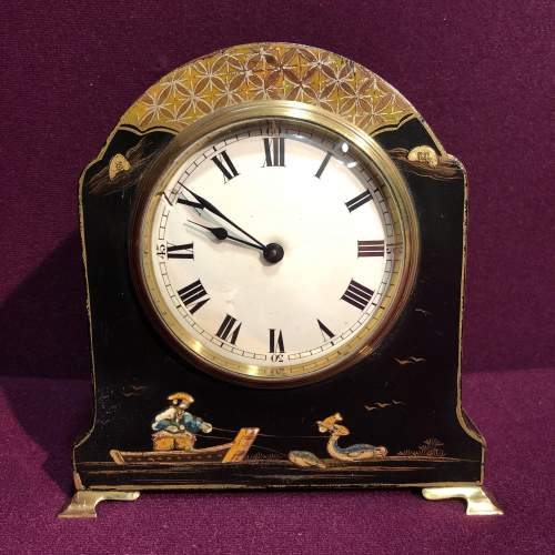 Art Deco Chinoiserie Mantel Clock image-1