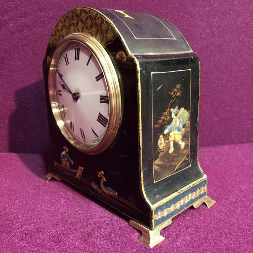 Art Deco Chinoiserie Mantel Clock image-3