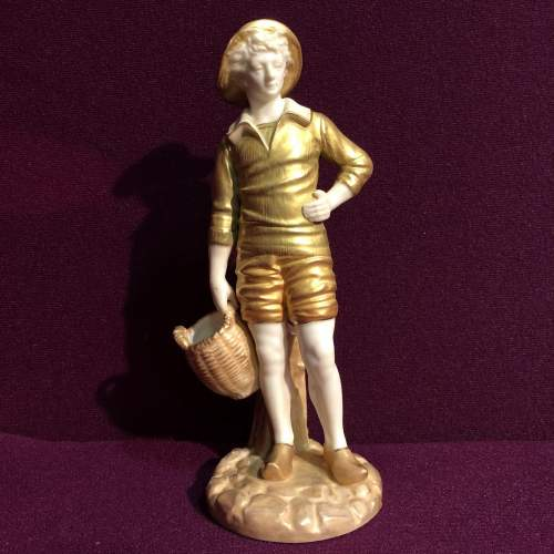Royal Worcester Figurine of a French Fisher Boy image-1