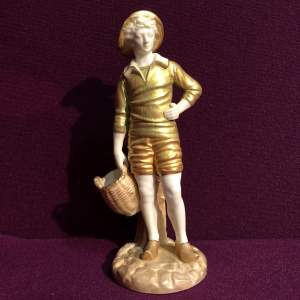 Royal Worcester Figurine of a French Fisher Boy
