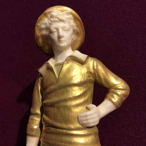 Royal Worcester Figurine of a French Fisher Boy image-3