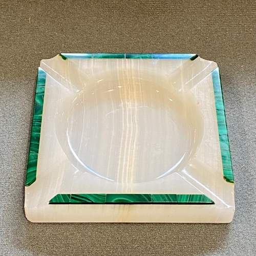 Pair of Henry Griffiths and Son Art Deco Onyx Ashtrays image-2