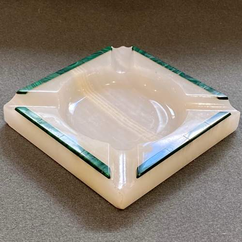 Pair of Henry Griffiths and Son Art Deco Onyx Ashtrays image-3
