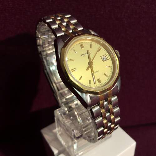 Ladies Tissot Bi-Metal Quartz Day Date Wristwatch image-1