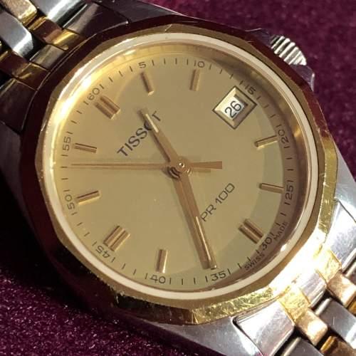 Ladies Tissot Bi-Metal Quartz Day Date Wristwatch image-3