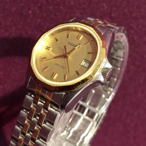 Ladies Tissot Bi-Metal Quartz Day Date Wristwatch image-5