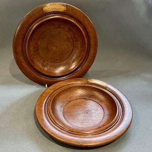 Pair of Welsh Oak Chapel Collection Plates