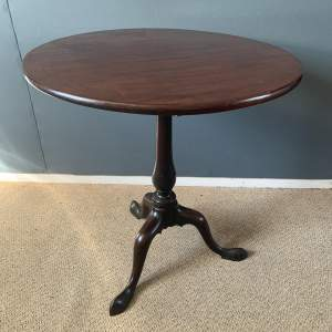 19th Century Mahogany Tilt Top Tripod Table