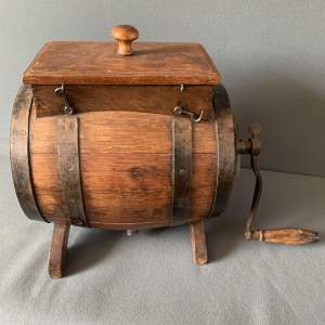 Oak and Iron Bound Butter Churn