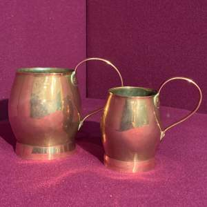 Pair of Early Copper Measures