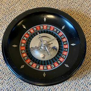 Rare Wooden Roulette Wheel by F H Ayres of London