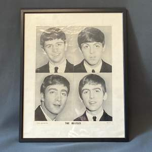 Mid 20th Century The Beatles Photograph Poster