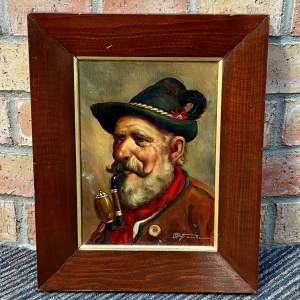 Original Oil Painting  on Board of a Gentleman