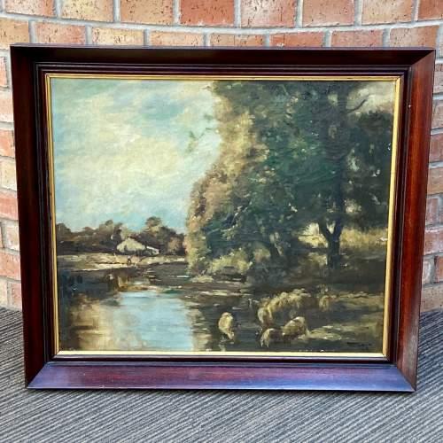 Original Landscape Oil Painting on Canvas by R Klein image-1